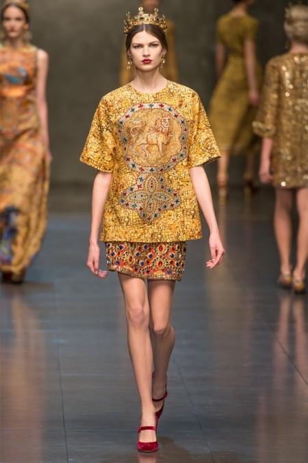 Dolce & Gabbana осень-зима 2013-2014 – когда всего слишком много — фото 10