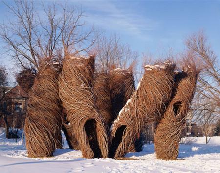 Патрик Догерти – скульптор, который вьет гнезда — фото 9