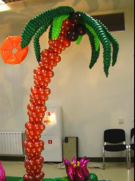 Пальма из шаров своими руками