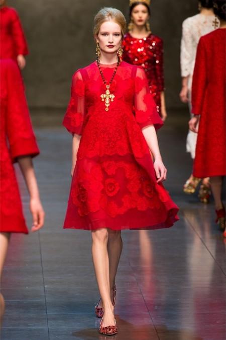 Dolce & Gabbana осень-зима 2013-2014 – когда всего слишком много — фото 58