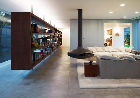 Потолочный камин – самый современный и настоящий домашний очаг — фото 32