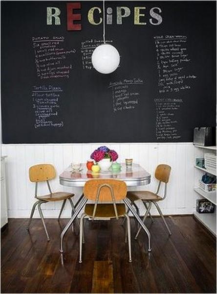 Школьная доска – часть интерьера кухни, детской, спальни и т.д. — фото 6