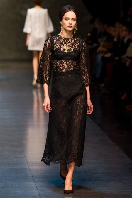 Dolce & Gabbana осень-зима 2013-2014 – когда всего слишком много — фото 47