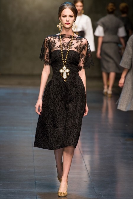 Dolce & Gabbana осень-зима 2013-2014 – когда всего слишком много — фото 34
