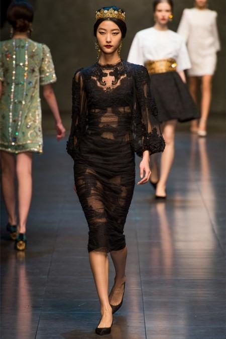 Dolce & Gabbana осень-зима 2013-2014 – когда всего слишком много — фото 42