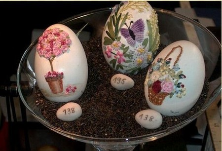 Вышивка по … яичной скорлупе. Ювелирная работа Элизабет Кляйн — фото 11