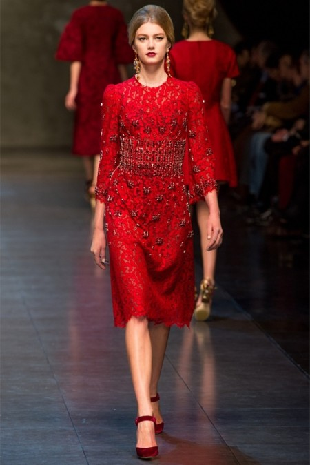 Dolce & Gabbana осень-зима 2013-2014 – когда всего слишком много — фото 65