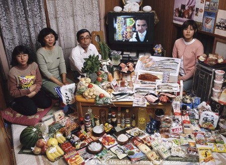 Японская семья Укита из Кодаира тратит на еду $317.25 в неделю