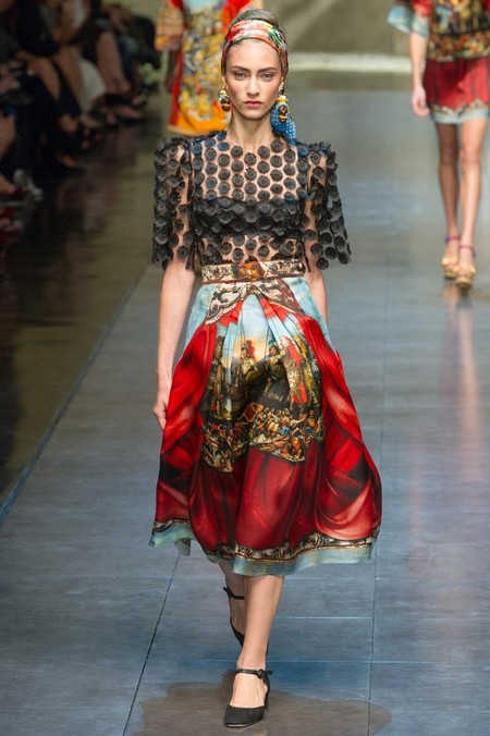 Сицилия от Dolce & Gabbana - женская коллекция весна-лето 2013 — фото 41