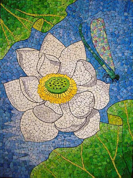 Мозаика из яичной скорлупы Любови Мешакиной — фото 15
