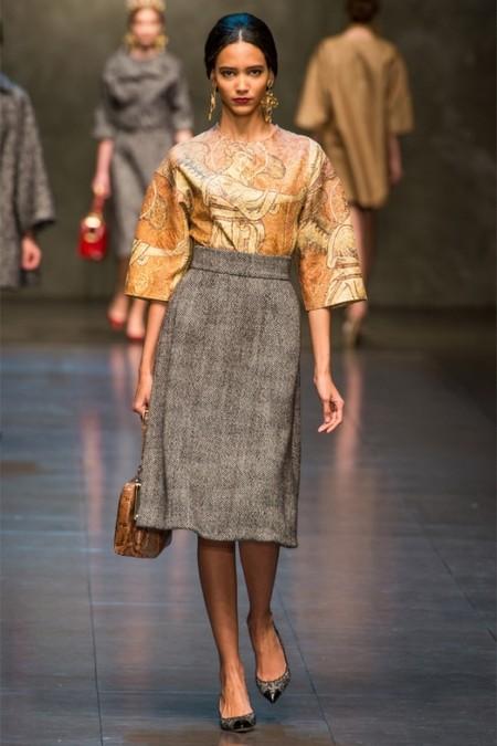 Dolce & Gabbana осень-зима 2013-2014 – когда всего слишком много — фото 17