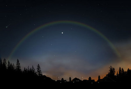 Лунная радуга - ночная красавица — фото 1