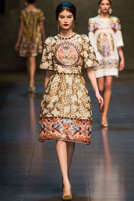 Dolce & Gabbana осень-зима 2013-2014 – когда всего слишком много — фото 75