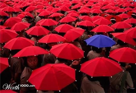 Бракованный зонтик в оптовой партии )))