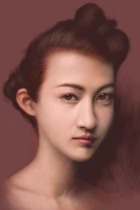 Сенсорные портреты – рисунки Сейко Ямаока на экранах iPod Touch и iPad — фото 10