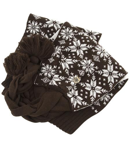 и GUESS туда же – к шарфу есть еще такая же шапочка, с теплыми «ушками»