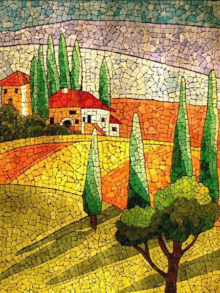 Мозаика из яичной скорлупы Любови Мешакиной — фото 6