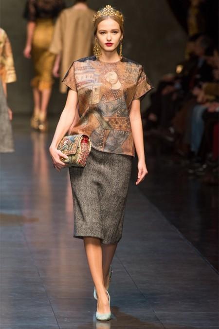 Dolce & Gabbana осень-зима 2013-2014 – когда всего слишком много — фото 16