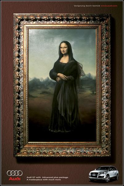 Улыбка Моны Лизы … на рекламных постерах. Новые идеи на вечную тему. — фото 2