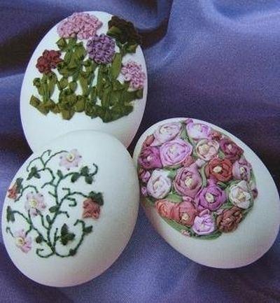 Вышивка по … яичной скорлупе. Ювелирная работа Элизабет Кляйн — фото 16