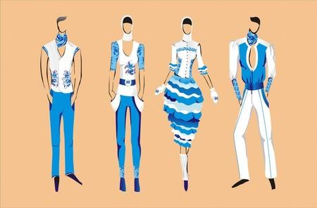 Мотивы гжель в сегодняшней моде – даже в Голливуде и на подиумах! — фото 6