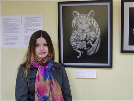 Автор необычной пушистой техники рисования — Инна Данченко