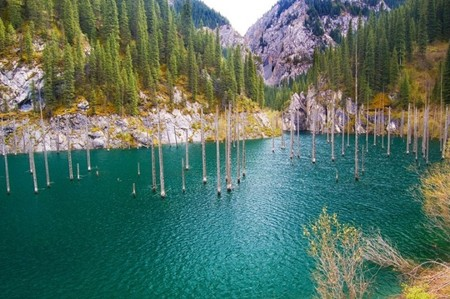 Волшебное озеро Каинды в Казахстане — фото 13