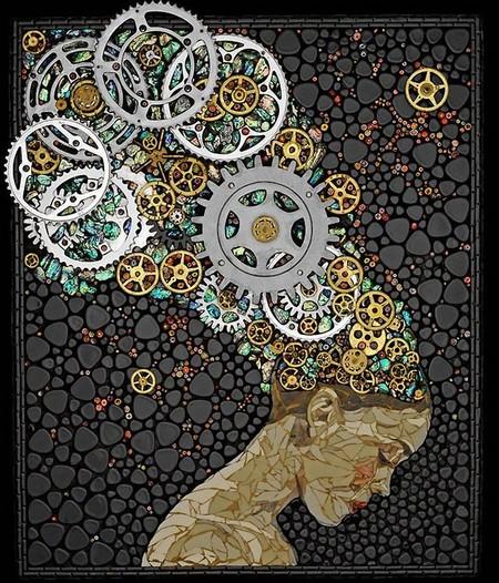 Механизмы и другие штуки в мозаиках Лоры Харрис — фото 7