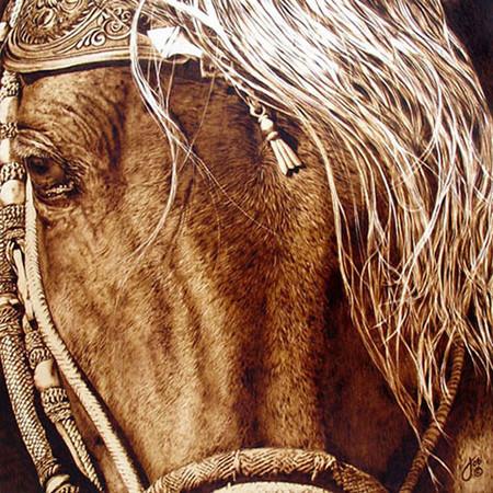 Пирография – горячая живопись Джулии Бендер — фото 23