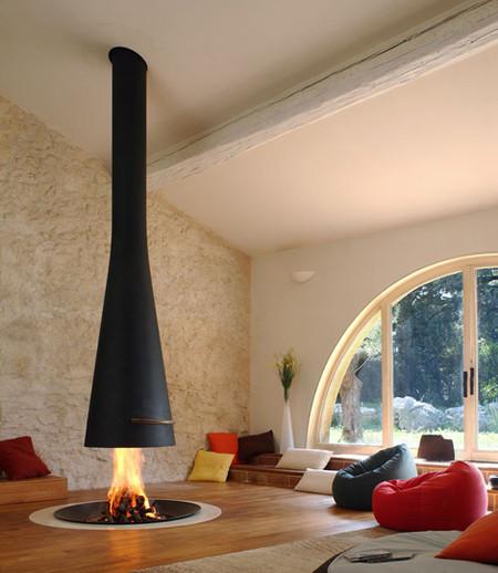 Потолочный камин – самый современный и настоящий домашний очаг — фото 24