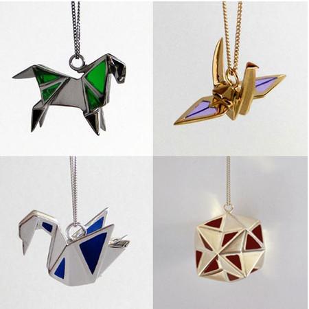 Украшения в виде оригами — изящные и оригинальные