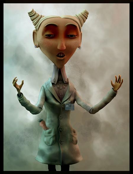 … дальше — очень странная женщина