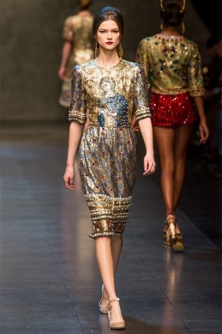 Dolce & Gabbana осень-зима 2013-2014 – когда всего слишком много — фото 74