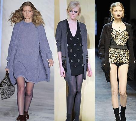 Слева направо — кардиганы 3.1 Phillip Lim, Clements Ribeiro, Dolce & Gabbana