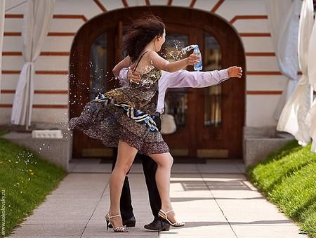 Алексей Кузнецов и Валентина Марчук танцуют аргентинское танго,
