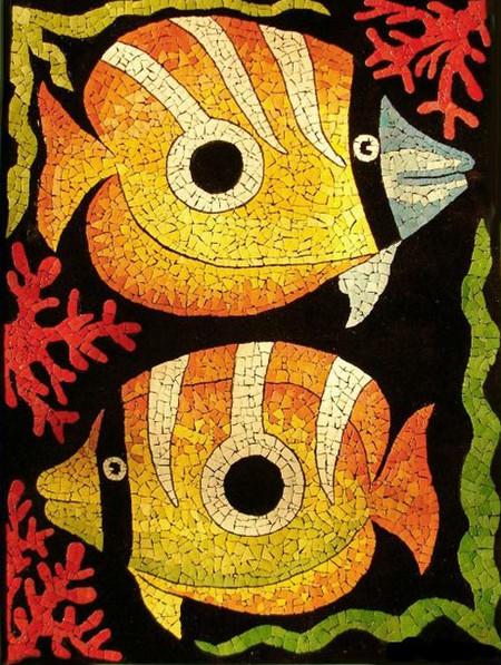 Мозаика из яичной скорлупы Любови Мешакиной — фото 21