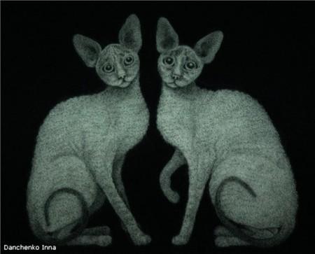 На картинах Инны Данченко много кошек