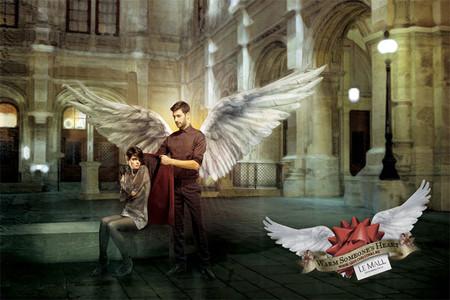 Реклама торгового центра, который предлагает в Рождество согреть чье-либо сердце