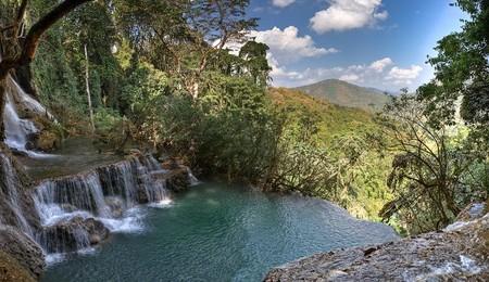 Водопад Tat Kuang Si в Лаосе — это природный инфинити
