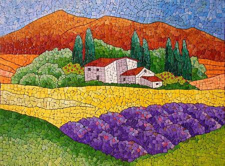 Мозаика из яичной скорлупы Любови Мешакиной — фото 16
