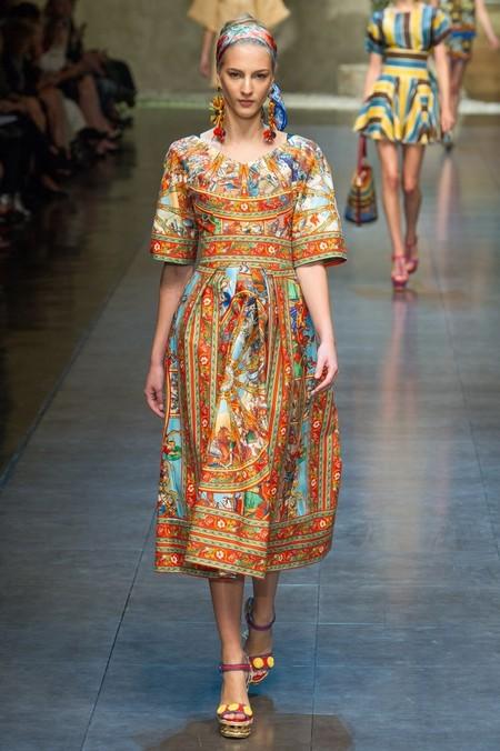 Сицилия от Dolce & Gabbana - женская коллекция весна-лето 2013 — фото 80