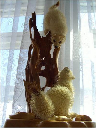 Скульптуры из стружки Сергея Бобкова — фото 4