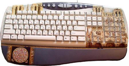 Клавиатура + декупаж, хохлома, палех ... Украшаем рабочее место и не только — фото 14