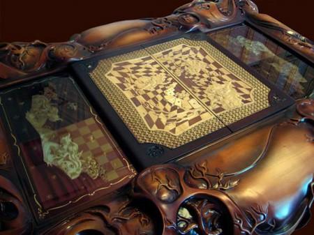 «Зазеркальные» шахматы – шедевр украинских мастеров — фото 4