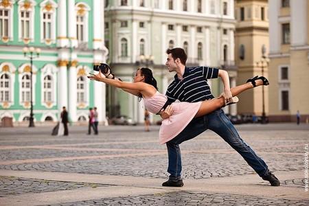 Егор Нечуйкин и Ксения Запутряева, спортивные бальные танцы, Дворцовая площадь