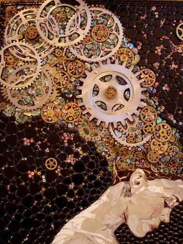 Механизмы и другие штуки в мозаиках Лоры Харрис — фото 8
