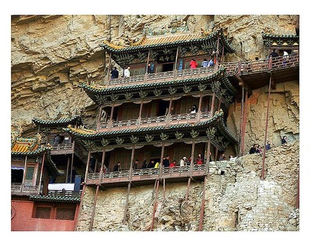 Экстремальный … монастырь – храм горы Хэншань в Китае — фото 4