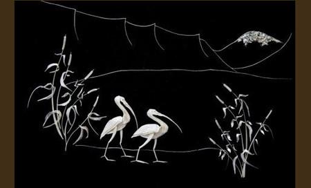 Перламутровая красота из … рыбьих косточек. Творчество Елены Журавской — фото 6