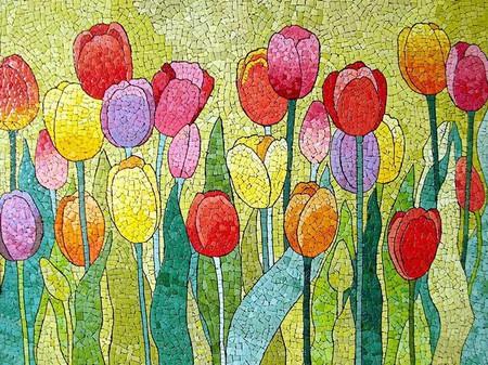Мозаика из яичной скорлупы Любови Мешакиной — фото 9