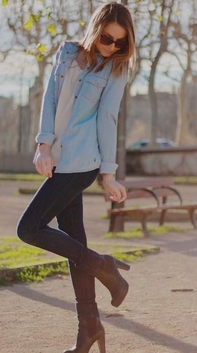 Ода джинсовой рубашке – сочиняем образы — фото 73